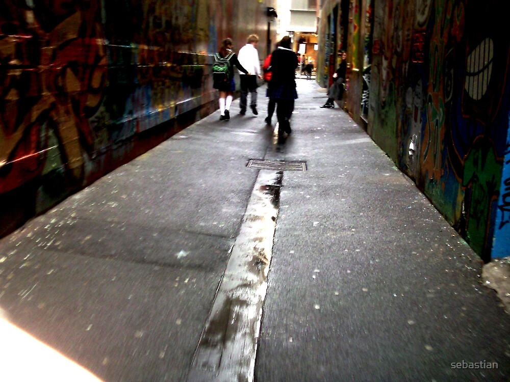 The youth in the alley by sebastian