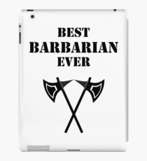 BEST BARBARIAN EVER RPG Rage Class iPad Case/Skin