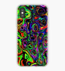 Abstract and Colorful Bubbles and Waves Phone Case Skin iPhone Case