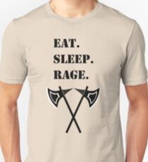 Eat Sleep Rage Barbarian 5E RPG Meme Class Unisex T-Shirt