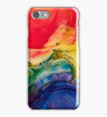 Abstract Red and Blue Modern Art Phone Case Skin iPhone Case/Skin