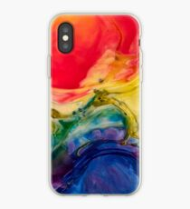 Abstract Red and Blue Modern Art Phone Case Skin iPhone Case