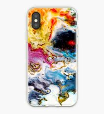 Abstract Orange Purple Blue and Red Modern Art Phone Case Skin iPhone Case