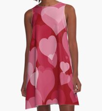Red Valentine Hearts A-Line Dress
