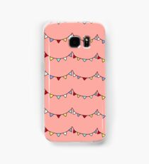 Bunting on Coral background Samsung Galaxy Case/Skin