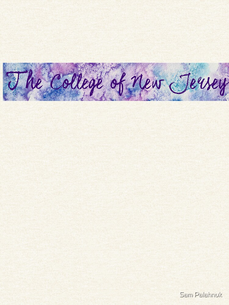 TCNJ Sticker: abstract purple and pink watercolor design by sampalahnukart