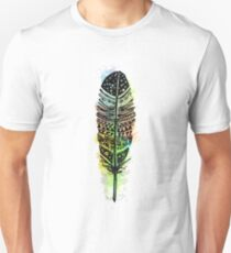 Watercolor feather AP092 T-Shirt