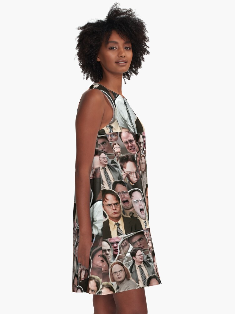 Alternate view of Dwight Schrute - The Office A-Line Dress
