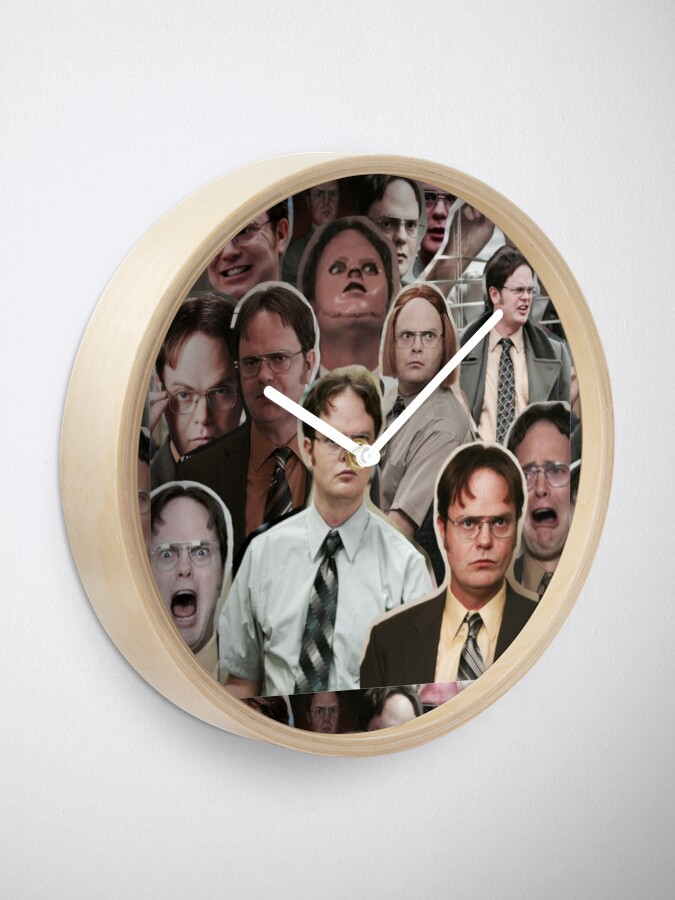 Alternate view of Dwight Schrute - The Office Clock