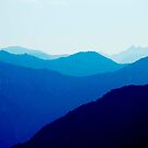 Blue Variation in the Alps by Mary Ann Reilly