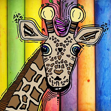 Giraffe Muilti Colour Background by itsdylan
