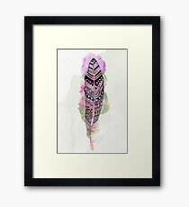 Watercolor feather AP093 Framed Print