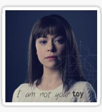 I am not your toy alison hendrix  Sticker