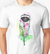 Watercolor feather AP094 T-Shirt