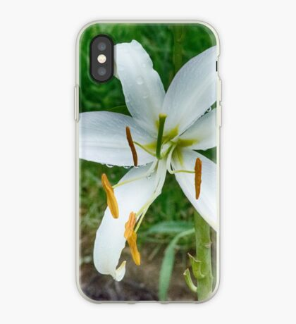 White Lilly iPhone Case