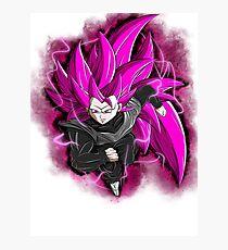 SSJ3 Goku Black (Rose) Photographic Print