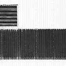 Corrugated Factory Wall BW by marybedy