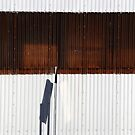 Factory Wall and Sign Shadow by marybedy