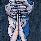 praying figure by Ronan Crowley