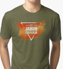 Jamon Paradigm Condensed Logo Tri-blend T-Shirt