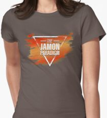 Jamon Paradigm Condensed Logo Women's Fitted T-Shirt