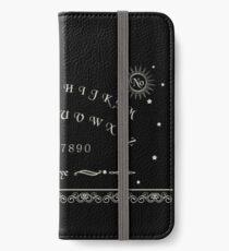 Ouija  Board Pattern in Black iPhone Wallet/Case/Skin