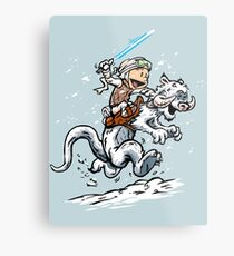 Calvin and Hoth Metal Print