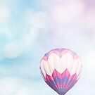 Pink & Blue Balloon by Bethany Helzer