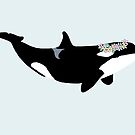 Killer Whale with Flower Crown by tessanicole