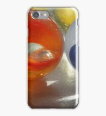 Red and Blue Marbles iPhone Case/Skin