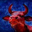 Red cow by Kurt  Tutschek