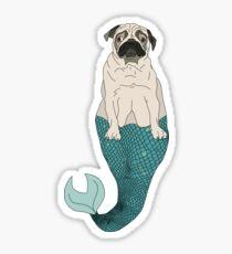 Mer Pug Fish Sticker