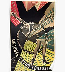 Man with a Movie Camera, vintage movie poster, 1929 Poster