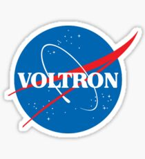 NASA (but it's voltron) Sticker