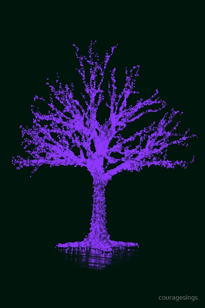 Purple Tree by couragesings