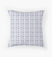 Marine motifs , anchors and rudders Throw Pillow