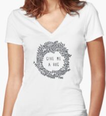 Give me a hug Women's Fitted V-Neck T-Shirt