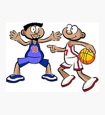 Basketball players - cartoon style Photographic Print