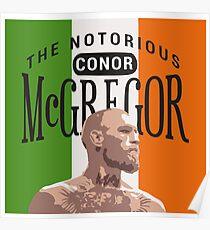 Conor Mcgregor Irish Flag Poster