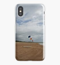 Flags and a surfboard iPhone Case/Skin