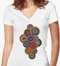 Mandala Women's Fitted V-Neck T-Shirt