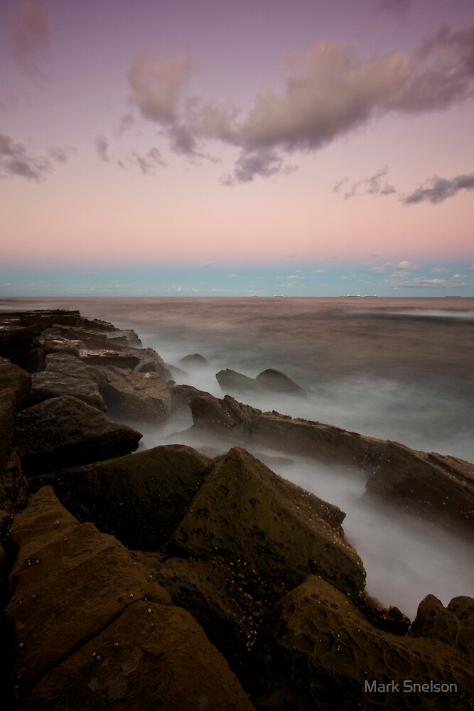 Merewether at Dusk 7 by Mark Snelson