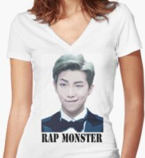 BTS KPOP - Rap Monster Women's Fitted V-Neck T-Shirt