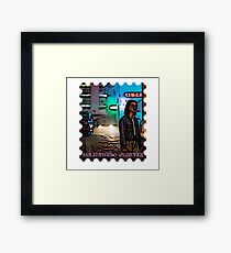 San Junipero Stamp Framed Print