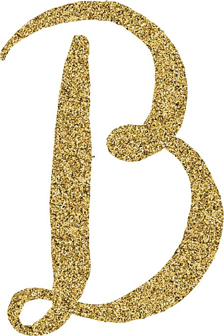 B Letter In Gold The gallery for -->...