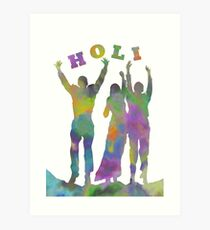 Holi, People Covered in Colors, Festival of Colors Art Print
