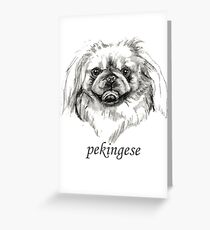 Pekingese face dog lover Greeting Card