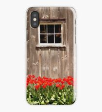 Red Tulips & Barn iPhone Case