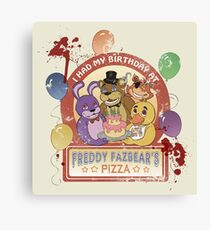 Freddy Fazbear's Birthday! (survivor version) Canvas Print