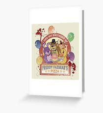 Freddy Fazbear's Birthday! (survivor version) Greeting Card